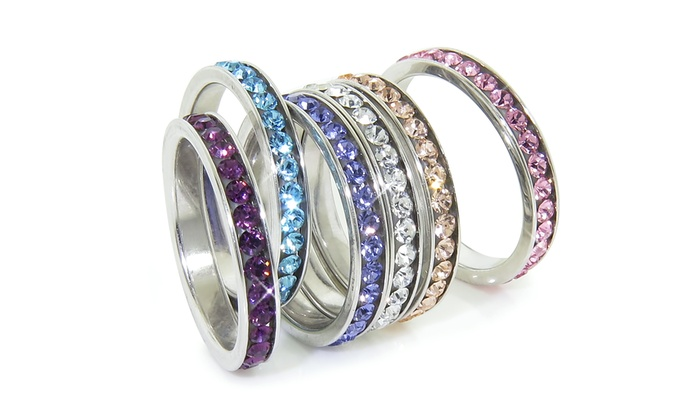 95 on bands with swarovski elements groupon goods