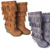 Shoes of Soul Fringe Wedge Boots