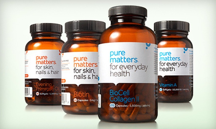 Pure Matters: All-Natural Vitamins and Supplements from Pure Matters (Up to 53% Off). Two Options Available.