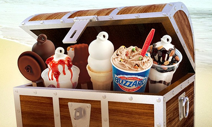 Dairy Queen - Tyrone Square Mall: $12 for Six-Visit Punch Card Valid for Blizzards, Smoothies, Julius, or Royal Treats at Dairy Queen (Up to $24.96 Value)