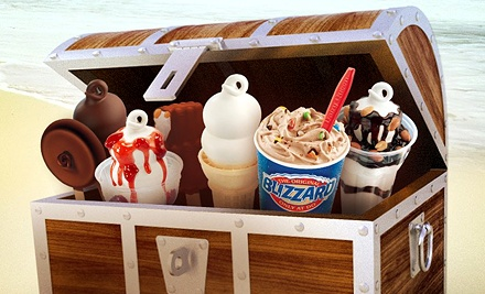 $12 for Six-Visit Punch Card Valid for Blizzards, Smoothies, Julius, or Royal Treats at Dairy Queen (Up to $24.96 Value)