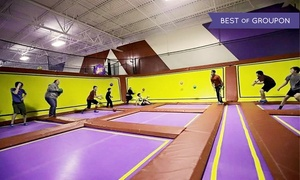 Jump N Joy: Two One-Hour Jump Passes at Jump N Joy (Up to 29% Off). Two Options Available.