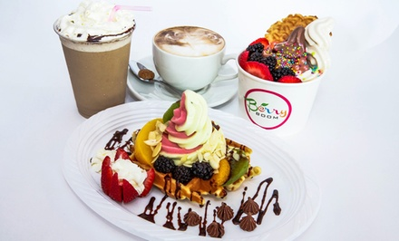 Three Beverages or $5 for $10 Worth of Frozen Yogurt or Waffles at Berry Boom Yogurt Lounge (Up to Half Off)