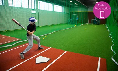 $15 for 30-Minutes Access to a Batting Cage Lane for Two people at The Fieldhouse, Pakuranga (Up to $25 Value)