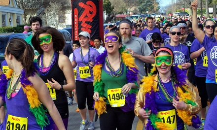 Dash for the Beads 5K for One or Two on Saturday, February 14 (51% Off)