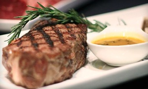 CY Steak: $75 for a Five-Course Upscale Dinner with Cabaret Entertainment for Two at CY Steak ($150 Value)