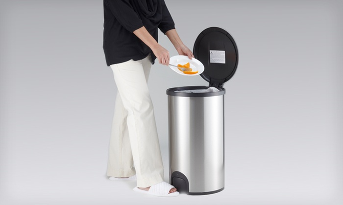 Stainless-Steel Toe-Tap Trash Can: $44 for a Stainless-Steel Toe-Tap Trash Can ($89.95 List Price). Free Shipping.