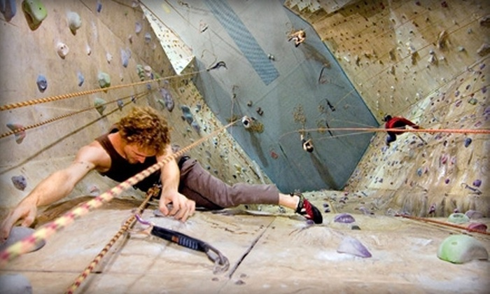 Philadelphia Rock Gyms - Multiple Locations: Introductory Rock-Climbing Class for One, Two, or a Family at Philadelphia Rock Gyms (Up to 58% Off)