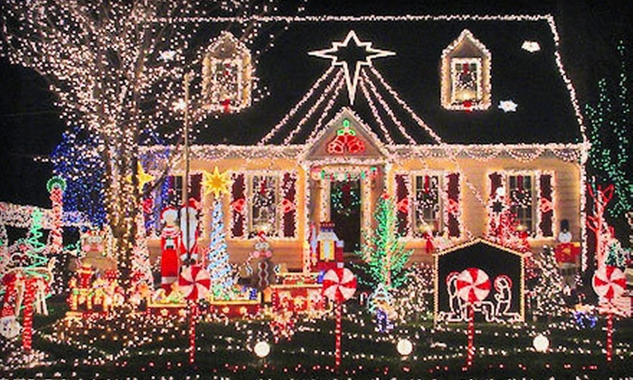 The Bubbly Sponge - Buffalo: Holiday-Light Installation for a One- or Two-Story Home from The Bubbly Sponge (Up to 79% Off). Three Options Available.