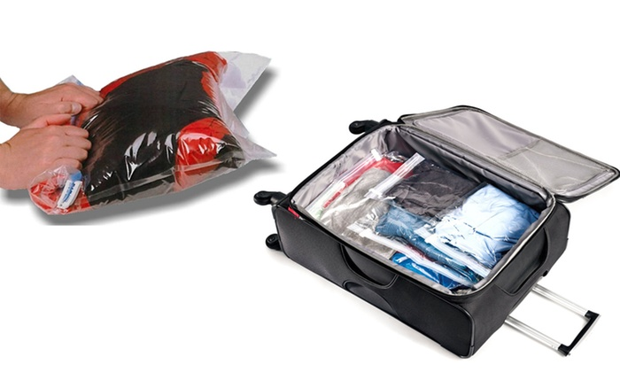 Space Saver Roll Up Compression Travel Bags 10 Pack