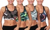 Active Yoga Vibrant Printed Sports Bra: Active Yoga Vibrant Printed Sports Bra