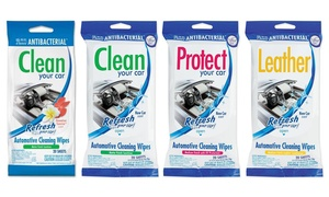 Refresh Your Car! Automotive Cleaner and Protectant Wipes (60-Count)