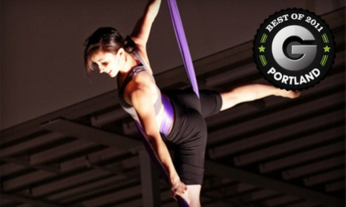 A-WOL: Dance Collective - Portland: Five-Class Punch Card or Intro to Low-Fly Trapeze and Aerial Fabric Workshop at AWOL: Dance Collective (Up to 53% Off)