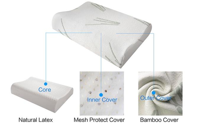 bamboo latex pillow groupon goods