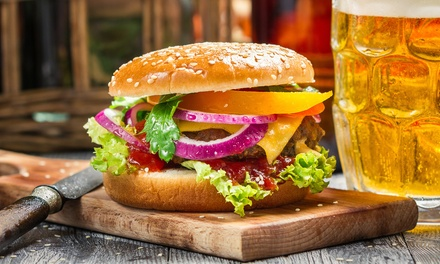 Burger and Beer for One, Two or Four at VIP Wine Bar And Grill