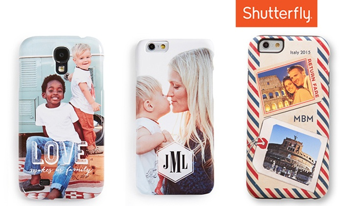 Shutterfly: Custom iPhone or Samsung Galaxy Phone Case from Shutterfly (Up to 66% Off)