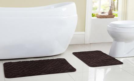 2 piece bath rug set