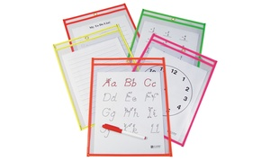 10-pack Of Reusable Dry Erase Pockets