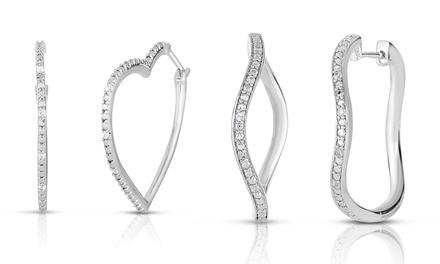 1/10 CTTW Diamond Heart or Leaf Earrings