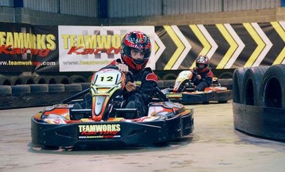image for 30 Minutes of Go-Kart Racing for One, Two or Four at Teamworks Karting (Up to 58% Off)