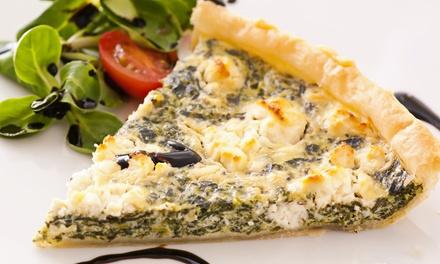 Quiches avec salade et dessert au choix pour 2, 3 ou 4 personnes dès 19,99 € au restaurant Tartistes