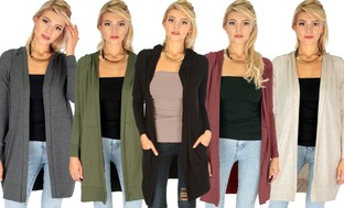 Lyss Loo Women's Longline Hooded Cardigan