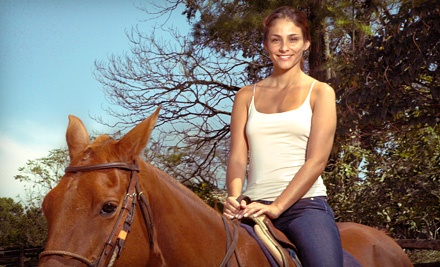 Trail Ride, Wine Tasting, and Souvenir Glass for One, Two, or Four from Happy Trailz Ranch (Up to 61% Off)