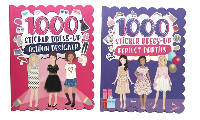 2000 Sticker Dress-Up Fashion Designer & Perfect Parties Books ...