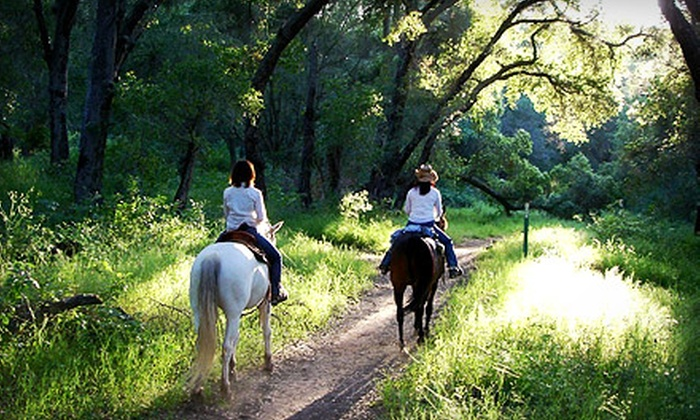 Ojai Valley Trail Riding Company - Mira Monte: $65 for a 60-Minute Trail Ride for Two People at Ojai Valley Trail Riding Company ($120 Value)