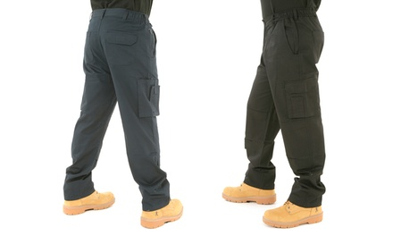 Men's MultiPocket Combat Work Trousers by BKS in Choice of Colours and Sizes for £10