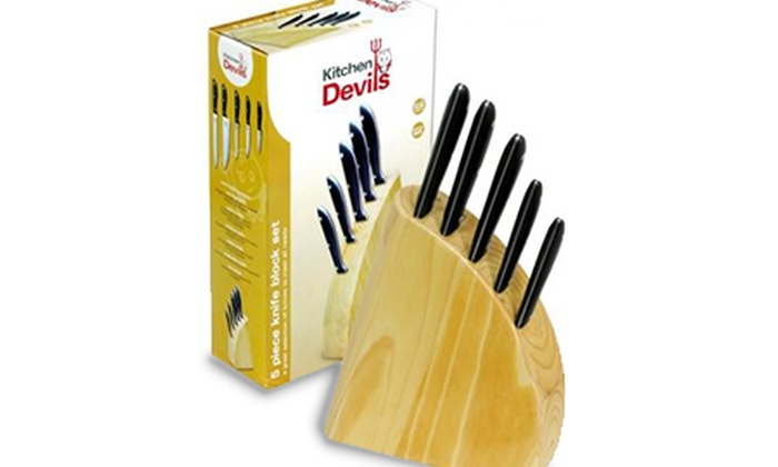 Kitchen devil knives set kitchen devils 9 piece knife for Kitchen devil knife set 9
