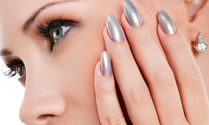 Mikki Johnson at Bang-N Heads Salon - Downtown Reno: Acrylic Nails with Optional Fill, or One Mani-Pedi from Mikki Johnson at Bang-N Heads Salon (Up to 52% Off)