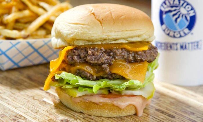 Elevation Burger - Elevation Burger: $12for $20Worth of Organic Burgers and Salads at Elevation Burger