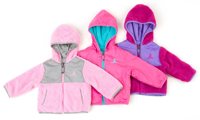 Rugged Bear Toddler Girls' Reversible Sherpa Jacket: Rugged Bear Toddler Girls' Reversible Sherpa Jacket. Multiple Colors Available.