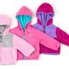 Rugged Bear Toddler Girls' Reversible Sherpa Jacket