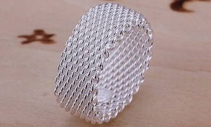 Sterling Silver Woven Mesh Ring at Sterling Silver Woven Mesh Ring, plus 6.0% Cash Back from Ebates.