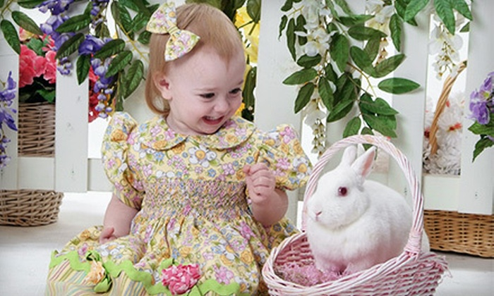 Life Shots Photography - North Richland Hills: $20 for a Spring Photo Shoot for Up to Two Children with Live Bunnies and Prints at Life Shots Photography ($45 Value)