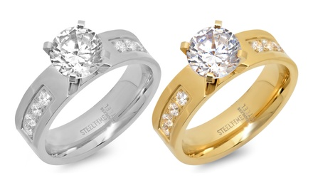 2.06 CTTW Cubic Zirconia Engagement Rings
