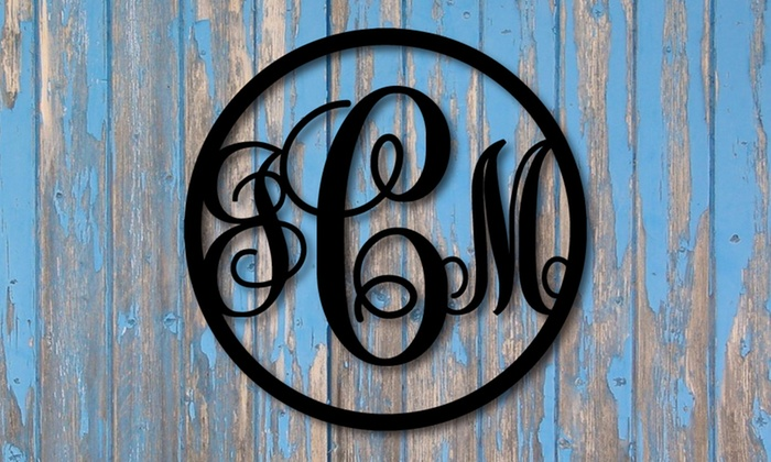 "Metal Unlimited: One or Two 15"" Vine Monogram Signs from Metal Unlimited (Up to 58% Off)"