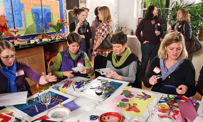 Party with Matisse - Milo Arts: Paper-Cutouts Art Party for One or Two at Party with Matisse (Up to 49% Off)