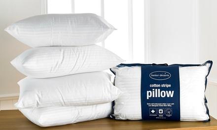 Two Better Dreams Satin Stripe Egyptian Cotton Pillows