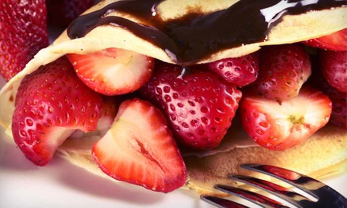 Crepe Symphony - Downtown: Crepes and Drinks for Two or Four People at Crepe Symphony (Half Off)