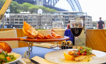 Mod Oz Harbourside Lunch ($89) or Dinner with Bottle of Wine ($99) for Two People at Waterfront (Up to $241 Value)