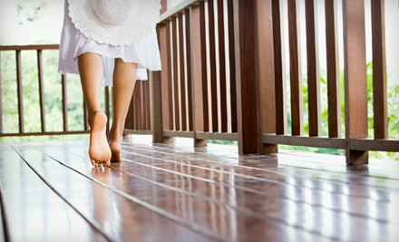 Deck Cleaning with Sealing or Staining for a Small-Sized Deck, Up to 100 Square Feet (a $250 value) - Luxury Window Cleaning in