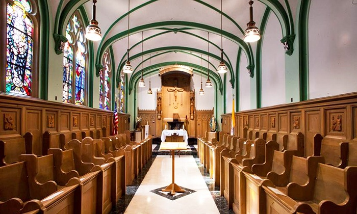 The Historical Society of Oak Park and River Forest - Fenwick High School - East Avenue Main Lobby: House of Worship Tour for Two or Four from The Historical Society of Oak Park and River Forest (Up to 55% Off)