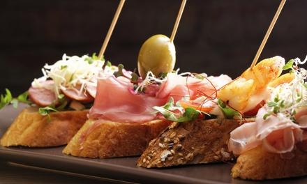 Menú para 2 o 4 personas con 2 raciones, tabla de 4 tostas, bebida y postre desde 16,95 € en Cáscaras