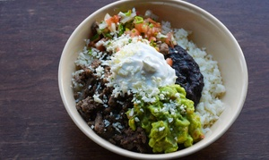 Flash Taco South Shore: Customizable Burrito-Bowl Meals for One or Two at Flash Taco South Shore (38% Off)
