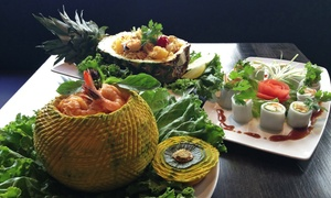 O3 Bistro & Lounge : $29 for Laotian Thai Cuisine and Drinks for Dinner for Two or More at O3 Bistro & Lounge ($45 Value)