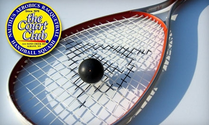 The Court Club - Colonie: $30 for a One-Month Membership Plus Rock-Climbing and Racquetball or Squash Lesson at The Court Club