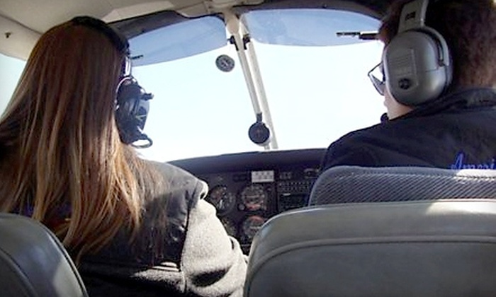 American Winds Flight Academy - Ellet: Extended Discovery Flight or a 9-Week FAA-Approved Ground Course from American Winds Flight Academy